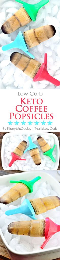 Enjoy a cool, sweet treat this summer without straying from your low carb eating plan! These low carb keto coffee popsicles are the perfect way to enjoy a hot day! ~ http://www.thatslowcarb.com