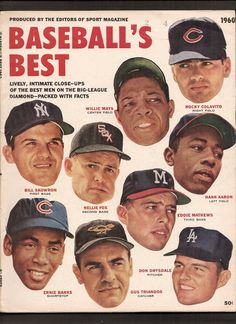 Front cover of 1960 edition of Baseball's Best, Rocky at top right corner.