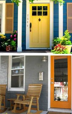 ... yellow and orange color for front door decoration ...