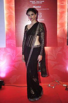 Aditi Rao in black sari