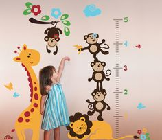 Safari Growth Chart Wall Decal