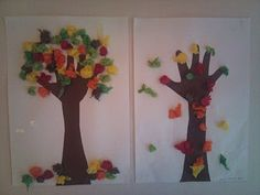Fall craft Toddler Crafts, Crafts For Kids, Arts And Crafts, Autumn Crafts, Autumn Art, Fall Art Projects, Projects To Try, Kids Jewelry, In The Tree