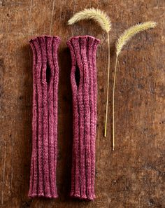 Whit's Knits: Ribbed Hand Warmers - The Purl Bee - Knitting Crochet Sewing Embroidery Crafts Patterns and Ideas!
