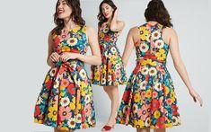 Floral Print Dresses Knee Length Dresses, Day Dresses, Floral Frocks, Cute Casual Dresses, Frock Design, Floral Prints, Mens Fashion, Girls, Vestidos