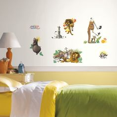 Madagascar wall decals. Peel and stick them all over walls!