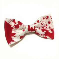 Blood Splatter Horror Hair Bow ($9) ❤ liked on Polyvore featuring accessories, hair accessories, hair and hair bow accessories