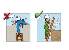 Yanlış ve Doğruları ile İnşaatta İş Güvenliği | İnşaat Gündemi Safety Rules, Home Safety, Safety Cartoon, Safety Pictures, Construction Safety, Industrial Safety, Safety Precautions, Safety Posters, Workplace Safety