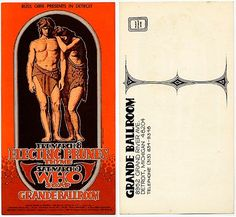 The Who and Electric Prunes, postcard, Grande Ballroom, Detroit