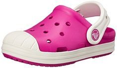 Crocs Bump it Unisex-Kinder Clogs,Candy Pink/Oyster - Pink27-28 EU ( 10 Child UK )