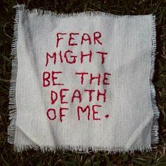 Fear leads to anxiety, don't know what's inside of me. Doubt |-/