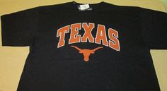 New TEXAS LONGHORNS NCAA T Shirt  Sz XXL 2XL - Black - 100% Cotton NWT #Champs…