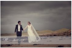 The happy couple take a stroll along the beach,the Lodge at Doonbeg GC Wedding Advice, Post Wedding, Fall Wedding, Ireland Wedding, Irish Wedding, Christmas Day Celebration, Wedding Planner, Destination Wedding