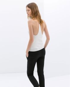 gorgeous. {TOP WITH DIAMANTE ON THE BACK - ZARA spring 2014 - under $100}
