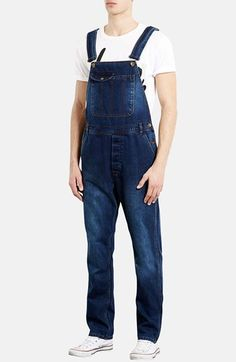 Topman Denim Overalls available at #Nordstrom