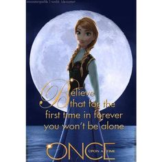 Disney Frozen Anna vs Once Upon a Time! Disney Frozen ❤ liked on Polyvore featuring frozen and disney
