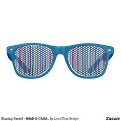Blazing Pastel - Adult & Child Retro Party Shades - From my Zazzle store. http://www.zazzle.com/lovethatdesign