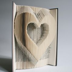 Heart Book Folding Pattern cuts: Plus free printable