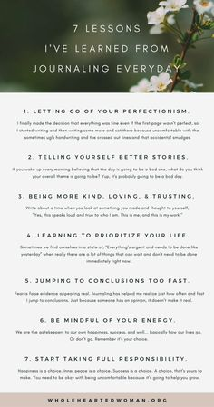 7 Lessons I've Learned From Journaling Everyday   Personal Development & Growth   Journaling Ideas   Finding Yourself   Why You Should Journal   How Journaling Will Help You Grow   Reasons To Journal