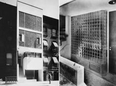 Swiss architect William Lescaze chose glass blocks to create New York City's first modernist building, which he completed in 1934.
