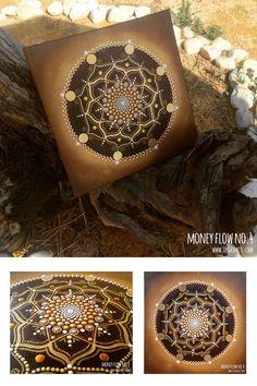Money Flow dot art painting No.4 collage Tessa Smits