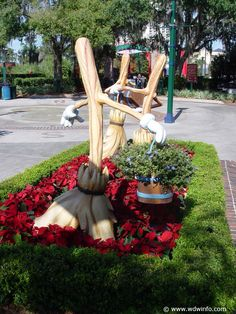 Brooms and buckets at Disneyworld, from the classic movie, Fantasia