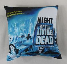 Night of the Living Dead Horror Movie Throw Pillow for sale by Horror Decor at MoreThanHorror.com