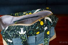 Adding a lining and inner pocket to Noodlehead bag.
