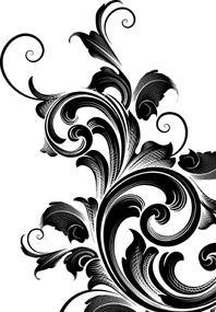 Tattoo Reference: Filigree Flourish 1 Stamp