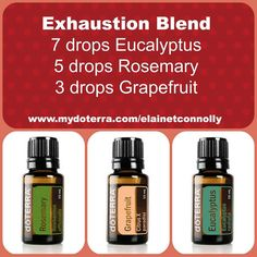 Feeling tired and run down? Exhaustion Blend to the rescue! http://www.mydoterra.com/elainetconnolly/