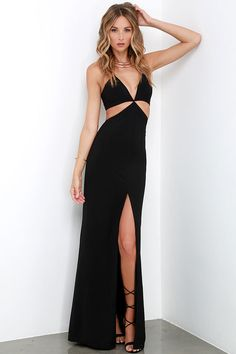 Levitate Black Halter Maxi Dress at Lulus.com!