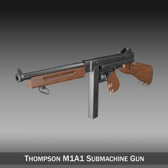 Thompson M1A1 Submachine Gun 3D Model- Originally modelled in cinema4D. Detailed enough for close-up renders. The zip-file contains bodypaint textures and standard materials.    Features:  - Inside scene: -model - 8 textures - 2 bumpmaps  - All materials, bodypaint-textures and textures are included.  - No cleaning up necessary, just drop your models into the scene and start rendering.  - No special plugin needed to open scene.    - Phong shading interpolation / Smoothing - 35°    - NOTE…