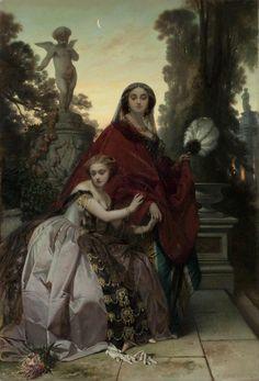 """overdose-art: """" """"François Claudius Compte-Calix, Ladies in the Park, 19th century. """" """""""