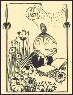 Little My, Illustration by Tove Jansson. Art And Illustration, Tove Jansson, Bd Comics, My Collection, Love Book, Oeuvre D'art, Comic Strips, Drawing Tutorials, Anime Manga