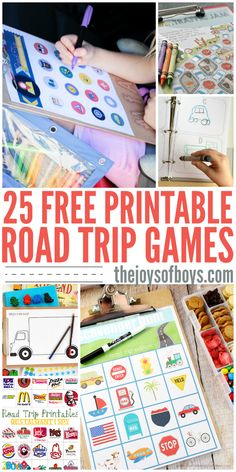 Free printable road trip games