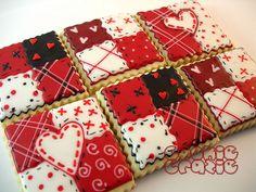 Valentine Cookies Red Quilt Patterns