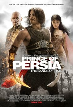2010 - Prince of Persia: The Sands of Time -- A rogue prince named Dastan reluctantly joins forces with the mysterious princess Tamina and together, they race against dark forces to safeguard an ancient dagger capable of releasing the Sands of Time - a gift from the gods that can reverse time and allow its possessor to rule the world.♥♥♥