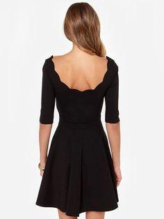 Moda Dolce Metà Solid manica capesante Neck Women Dress
