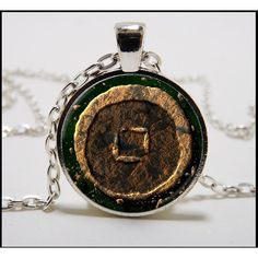 Earth Nation Necklace and silver pendant set - Avatar the last airbender jewelry - earth bender - earth kingdom
