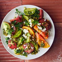 Serve this salad as soon as it is assembled so all of the tomato juices and flavor stay where they belong.