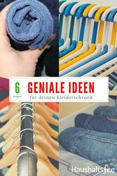 Die meisten Frauen kennen das: DerKleiderschrankist voll toller Teile und trotzdem sagen wir, das wir nichts zum Anziehen hätten…   Hier kommen Ideen, wie du deinen Kleiderschrank besser organisieren kannst. Für Schals, Tücher, Socken, Jeans uvm.