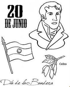 Manuel Belgrano para colorear