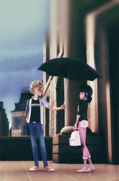 Umbrella Scene ☔ Adrienette Lockscreen