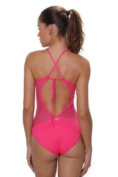 13034c29f4 Del Mar Swim Dahlia Maillot One Piece - Azalea Pink
