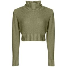 Nicole Turtle Neck Crop Jumper (£15) ❤ liked on Polyvore featuring tops, sweaters, green turtleneck sweater, henley sweater, turtleneck, turtleneck sweater and turtleneck tops