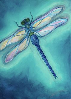 Dragonfly, Canvas Painting, Dragonfly Inspirations, Painting Dragonfly ...