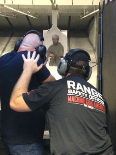 A Range Safety Officer overseeing a guest experience on the Machine Gun America range. #MGA #OrlandoTourism