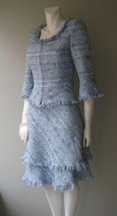 Summer tweed jacket and skirt