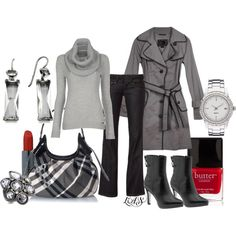 Outfit - I would replace this gray sweater with a different color.