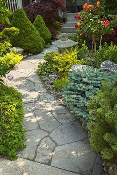 Znalezione obrazy dla zapytania ścieżka kamienna w ogrodzie