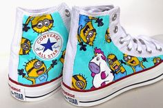 punk projects: Custom Minion Converse Shoes